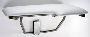 Bobrick Lef-Hand Folding Shower Seat with Padded Cushion in White BB518