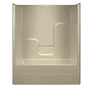 Aquarius Industries Luxury 76-1/2 x 60 x 35-3/4 in. Tub and Shower with Left Hand Drain AG6063TSBS