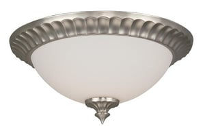 Craftmade International 13 in. 60 W 2-Light Medium Flush Mount Round Flute Frost Light Fixture CX313