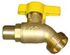 Raven Products Brass MNPT x Hose Boiler Drain R34BDBL1256