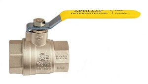 International™ Forged Brass, Steel and Plastic Full Port Threaded Ball Valve with Lever Handle A94A1001