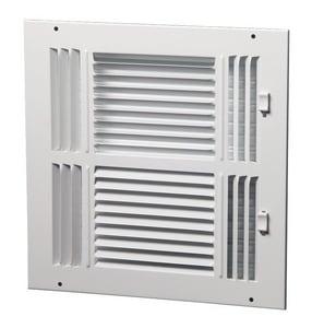 PROSELECT® 10 in. Steel Ceiling/Sidewall Register in White PS4WW10