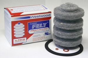 Westwood Products Classic FELT Element Refill with Gasket Box WF3524