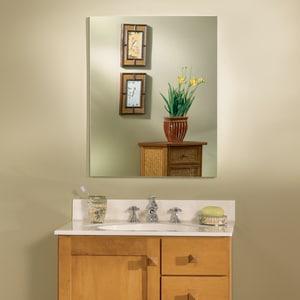 Jensen Metro 29 x 23-1/4 x 4 in. Classic Medicine Cabinet Flat Mirror R52WH304PF
