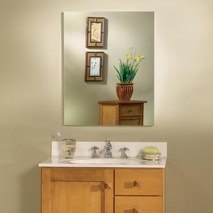 Jensen Metro 23-1/4 x 29 x 4 in. Deluxe Medicine Cabinet with Flat Mirror in White R52WH304DPF