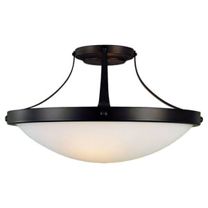 Murray Feiss Industries Boulevard 8-1/4 x 15-1/14 in. 100 W 2-Light Medium Semi-Flush Mount Ceiling Fixture in Oil Rubbed Bronze MSF187ORB
