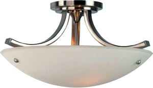 Murray Feiss Industries Gravity 10 x 15-3/4 in. 100 W 3-Light Medium Semi-Flush Mount Ceiling Fixture MSF189