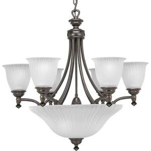 Progress Lighting Renovations 27-1/4 in. 100W 9-Light Medium Incandescent Chandelier PP4116