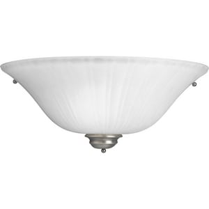 Progress Lighting Renovations 15-31/50 in. 1-Light Wall Sconce with Etched Ribbed Glass Shade P7122