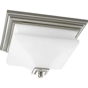 Progress Lighting Bratenahl 60 W 2-Light Medium Flush Mount Close-to-Ceiling Fixture Light PP3364