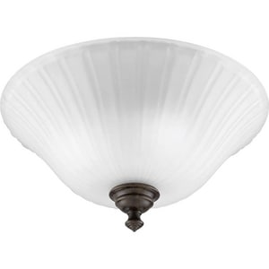 Progress Lighting Renovations 60 W 3-Light Medium Semi-Flush Mount Close-to-Ceiling Light PP3515