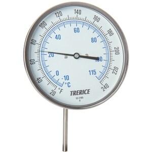 H.O. Trerice 0-100 Degree F 2-1/2 in. Stem Bimetal Thermometer TB8560202