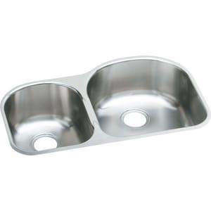 Elkay Harmony™ 2-Bowl Stainless Steel Left Hand Undermount Kitchen Sink EEGUH3119L