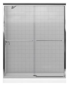 Kohler Fluence® 55-3/4 x 59-5/8 in. Frameless Sliding Bath Door with Crystal Clear Glass K702204-L