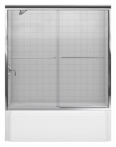 Kohler Fluence® 55-3/4 x 57 in. Frameless Sliding Bath Door with Crystal Clear Glass K702202-L
