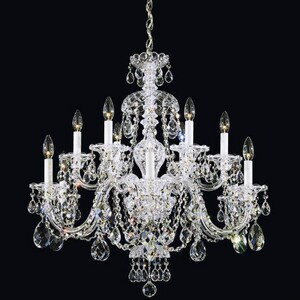 Schonbek Sterling 60 W 12-Light Candelabra Chandelier S360140H