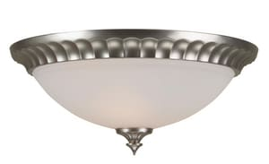 Craftmade International 16 in. 60 W 3-Light Round Flute Pan Flush Mount Light CX316