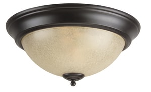 Craftmade International 5 x 13 in. 60 W 2-Light Medium Flush Mount Ceiling Fixture with Tea Stained Glass CX713