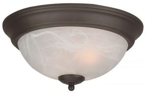 Craftmade International 5-1/2 in. 60W 2-Light Medium E-26 Base Incandescent Flushmount Ceiling Fixture CX211
