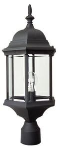 Craftmade International Hex 100 W 1-Light Medium Cast Aluminum Post Lantern in Matte Black CZ695TB