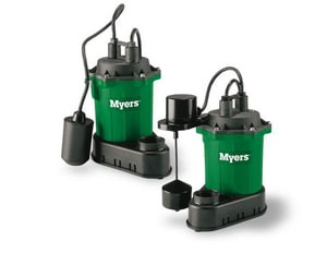 F. E. Myers 1/3 hp Sump Pump with Vertical Float Switch with 10 ft. Cord MS33V1
