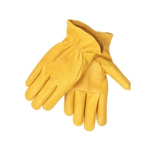 Revco Industries Black Stallion® Elkskin Leather Glove in Yellow R17LYELL