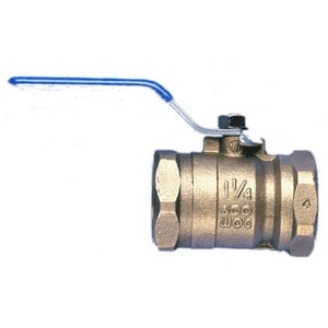 Wilkins Regulator Model 850 Bronze FNPT Full Port Ball Valve with Lever Handle and Tap-on-Pipe W850T