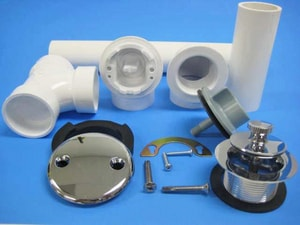 Federal Process 1-1/2 in. Schedule 40 Lift and Turn Waste & Overflow Kit Polished Chrome F740PVCBK