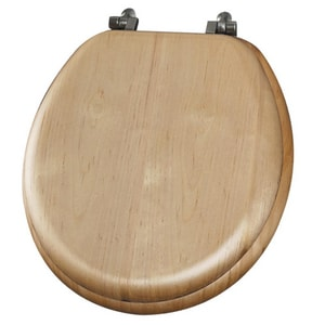 Mayfair Natural Reflections™ Wood Round Closed Front Toilet Seat B9601NI418