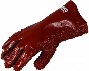 T. Christy Enterprises PVC Coat Chip Surface Glove in Red C4112