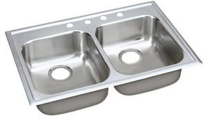 Elkay Elumina™ 2-Bowl Kitchen Sink with Center Drain EEG3322