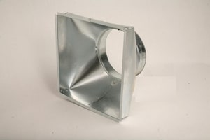 Gray Metal South 16-1/2 x 18-1/2 in. Square to Round Diffuser G1612X1812XFP