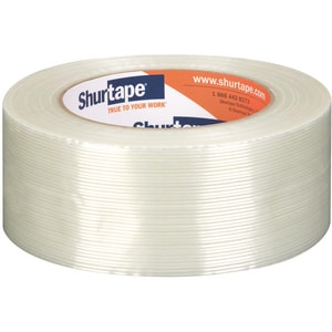 Shurtape GS 501 2 in. 60 yd. Rubber Strapping Tape in White and Clear SGS501K60WH