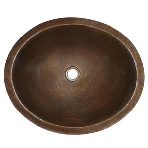 Native Trails Kitchen & Bath 16 x 19 in. Undermount Lavatory Sink in Antique Copper NCPS268