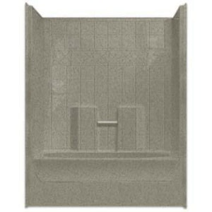 Aquarius Industries Millennia Collection 60 x 37-1/4 in. Tub and Shower with Right Hand Drain AM6037TSTILER