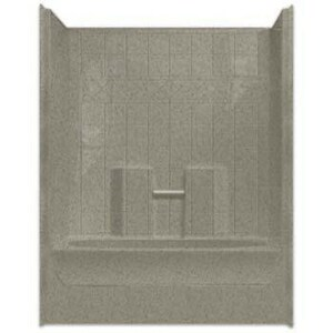 Aquarius Industries Millennia Collection 60 x 37-1/4 in. Tub and Shower with Left Hand Drain in White AM6037TSTILELWHT