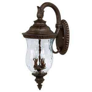 Capital Lighting Fixture Ashford 20-1/2 in. 60W 2-Light Candelabra E-12 Base Outdoor Wall Sconce C9782
