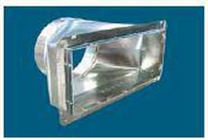 M & M Manufacturing 12 x 7 in. Galvanized Steel Register Box M60112UW