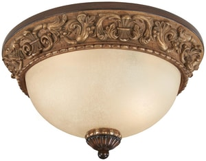 Minka Belcaro™ 7-1/4 x 12-3/4 in. 60 W 2-Light Medium Flush Mount Ceiling Fixture M958126