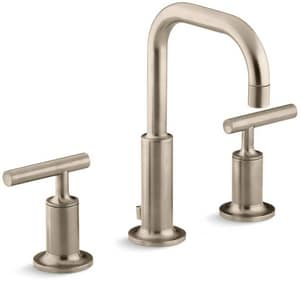 Kohler Purist® 3-Hole NPSM Widespread Bathroom Sink Faucet with Double Lever Handle K14406-4