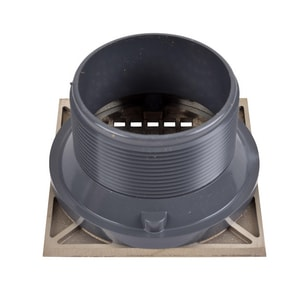 Oatey 5 in. Round Nickel Grate, Square Ring and Plastic Barrel O72070