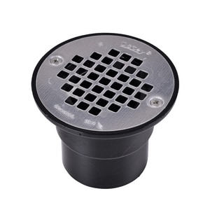 Oatey 2 in. ABS Shower Drain with Stainless Steel Strainer Black O42236