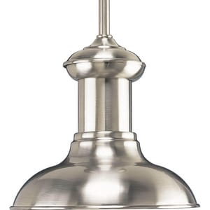 Progress Lighting Brookside 7-1/2 in. 100 W 1-Light Medium Pendant in Brushed Nickel PP502309