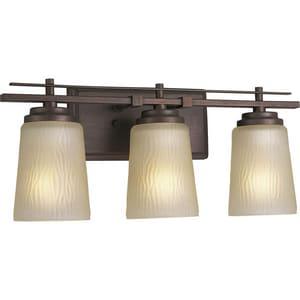 Progress Lighting Riverside 18-1/2 in. 100W 3-Light Bath Light PP3094