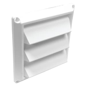 Lambro Industries Louvered Air Intake Vent in White L60W