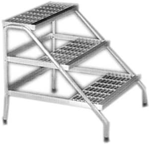 MW Supply 30 in. 3-Step Aluminum Platform BDE0103