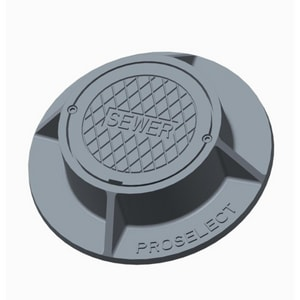 PROSELECT® 4 in. Sewer Cleanout Body & Cover PSVBM1007SCSWR