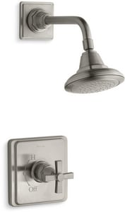 Kohler Pinstripe® 2.5 gpm Bath and Shower Trim Kit with Single Cross Handle KT13134-3A