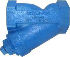 Titan Flow Control 250# Cast Iron Threaded Mesh Wye Strainer TYS12IM