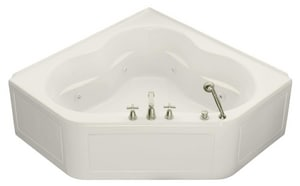 Kohler Tercet® 60 x 60 in. Alcove Whirlpool Tub with Integral Flange and Center Drain K1160-LA